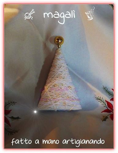 alberello bianco con perle