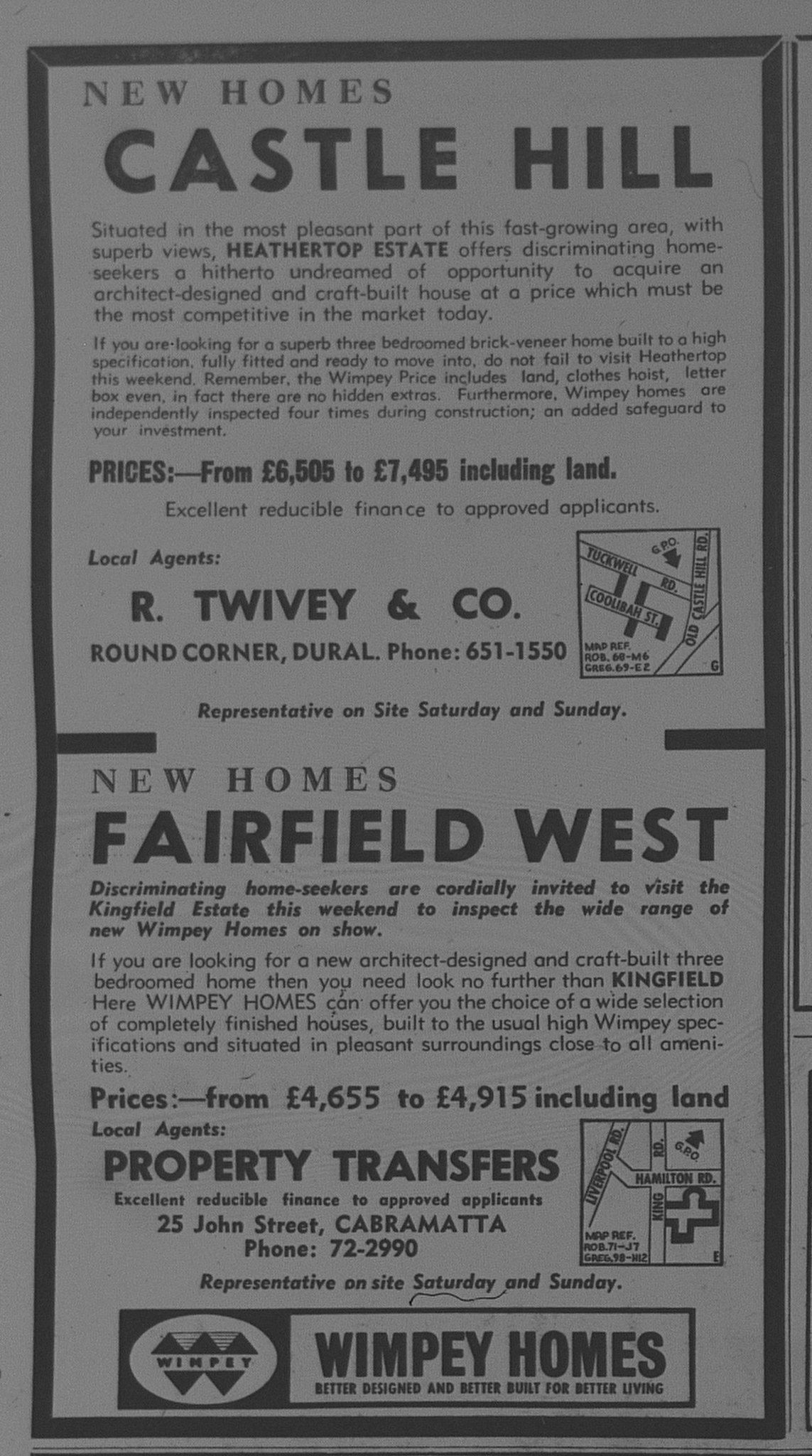Wimpey Homes Ad October 21 1966 the sun 64
