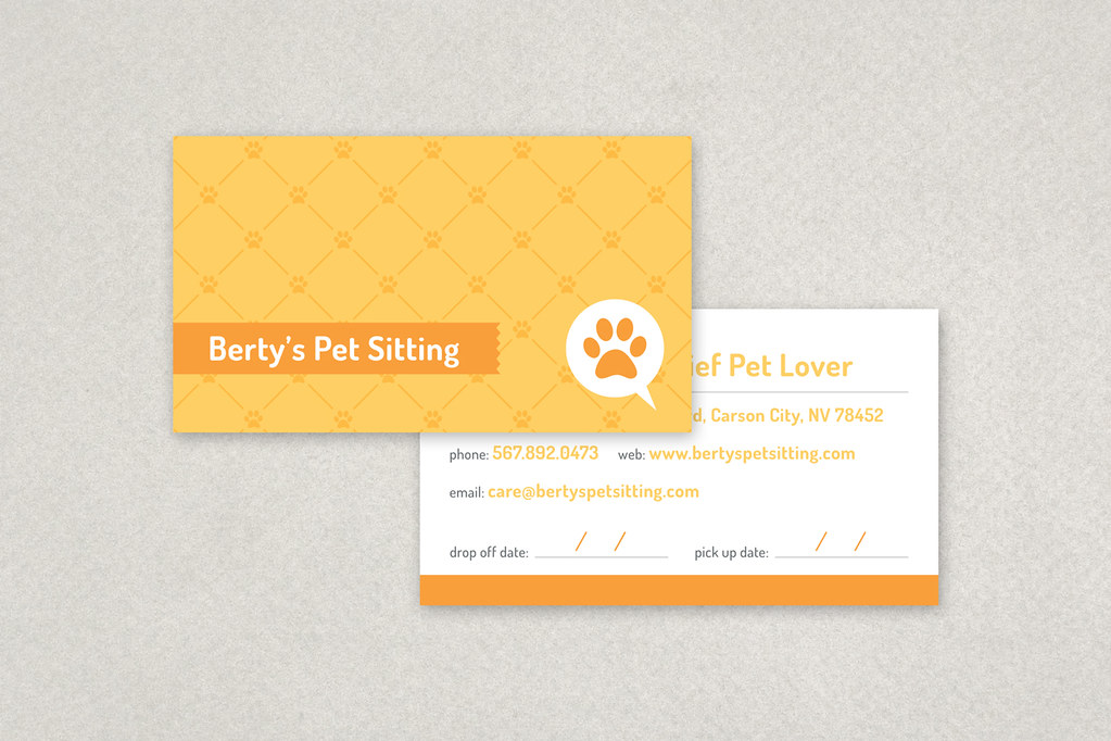 pet sitting business card with its bright cheerful colors flickr