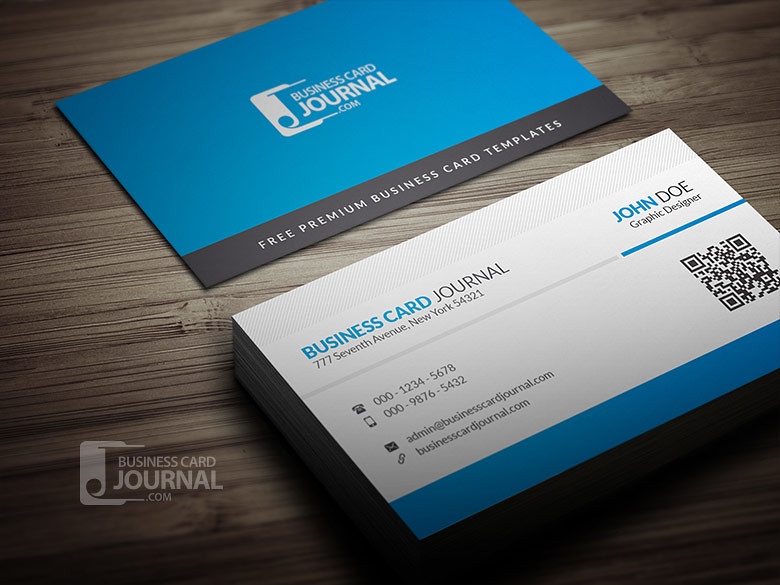 Blue corporate business card template with qr code flickr blue corporate business card template with qr code by meng loong friedricerecipe Image collections