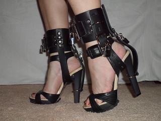 White Platform Shoes N Belt