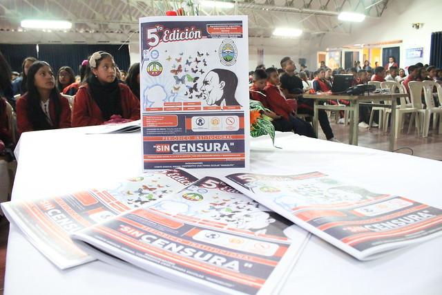 Lanzamiento oficial 5ta edición periódico institucional Sin censura