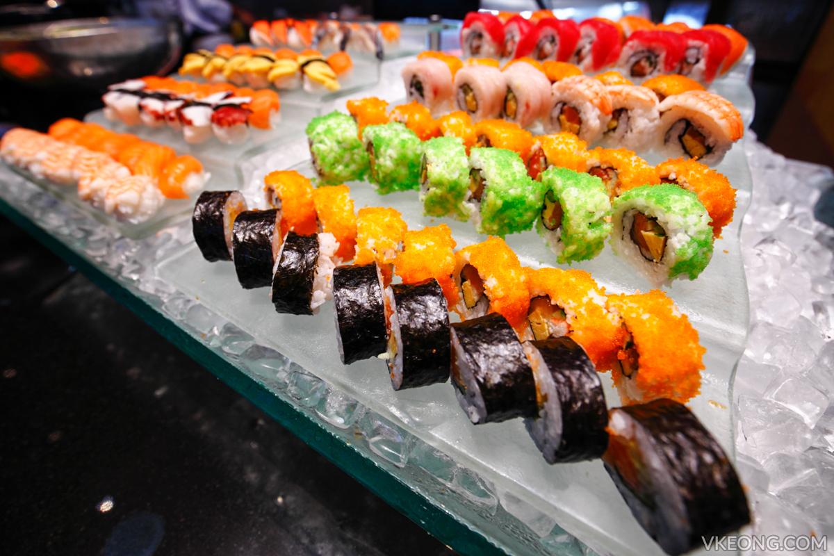 Edge Hilton Pattaya Buffet Sushi Rolls