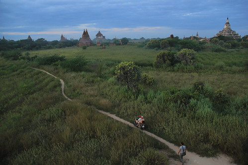 Narrow pathways that cross Bagan's southern plains