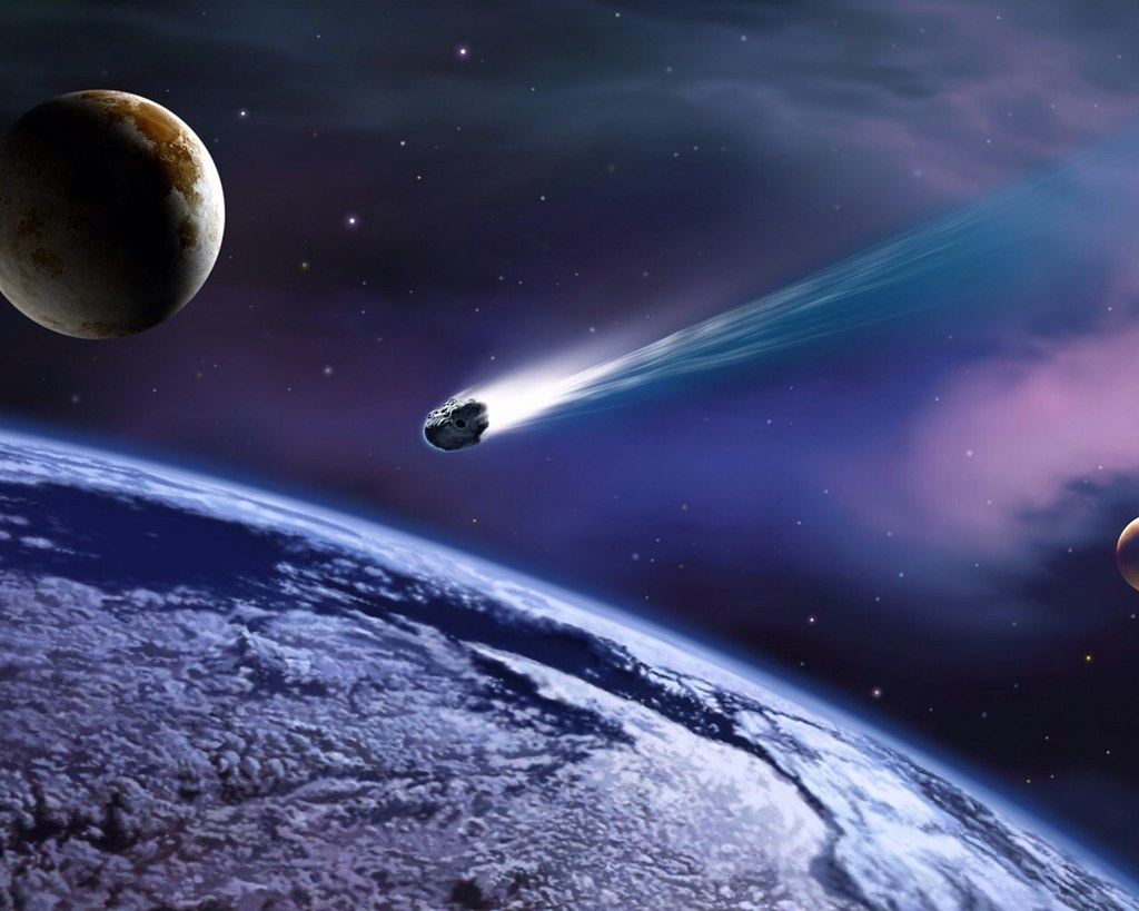 Image result for meteorite in space