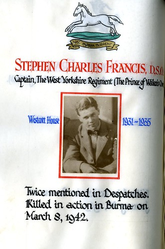Francis, Stephen Charles (1917-1942) | by sherborneschoolarchives