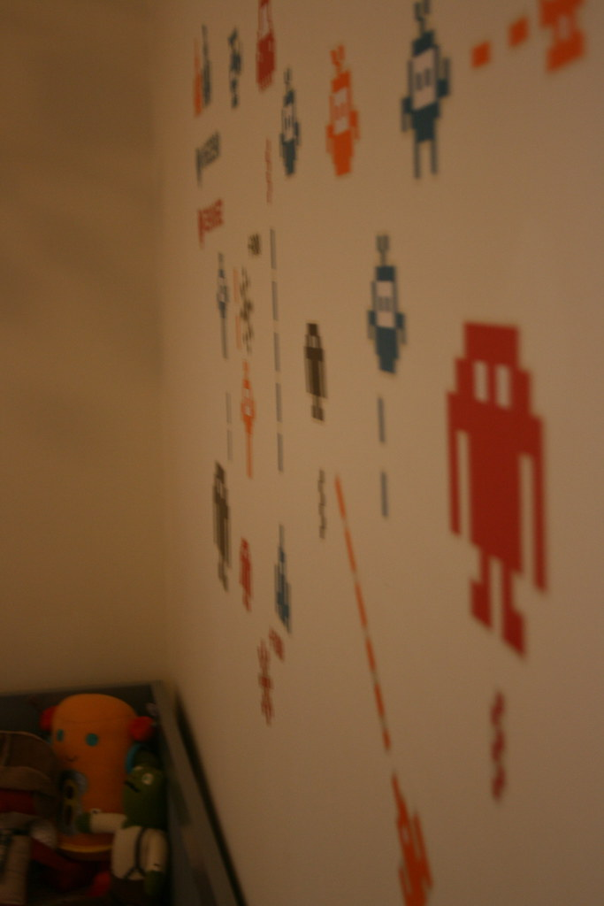 ... Space Invaders Wall Decals Over Crib (from Ikea) | By Thewilder