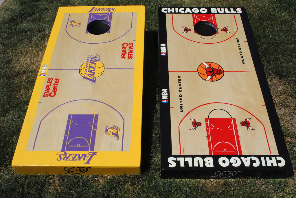 Los Angelos Lakers And Chicago Bulls Basketball Courts Flickr