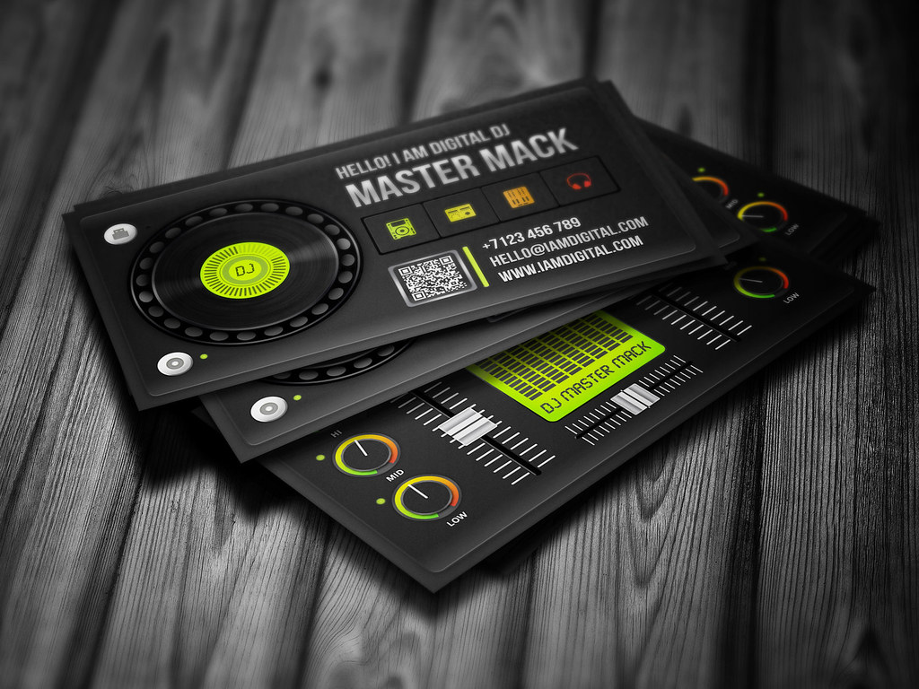 Digital dj business card template digital dj business card flickr digital dj business card template by iamvinyljunkie flashek Images