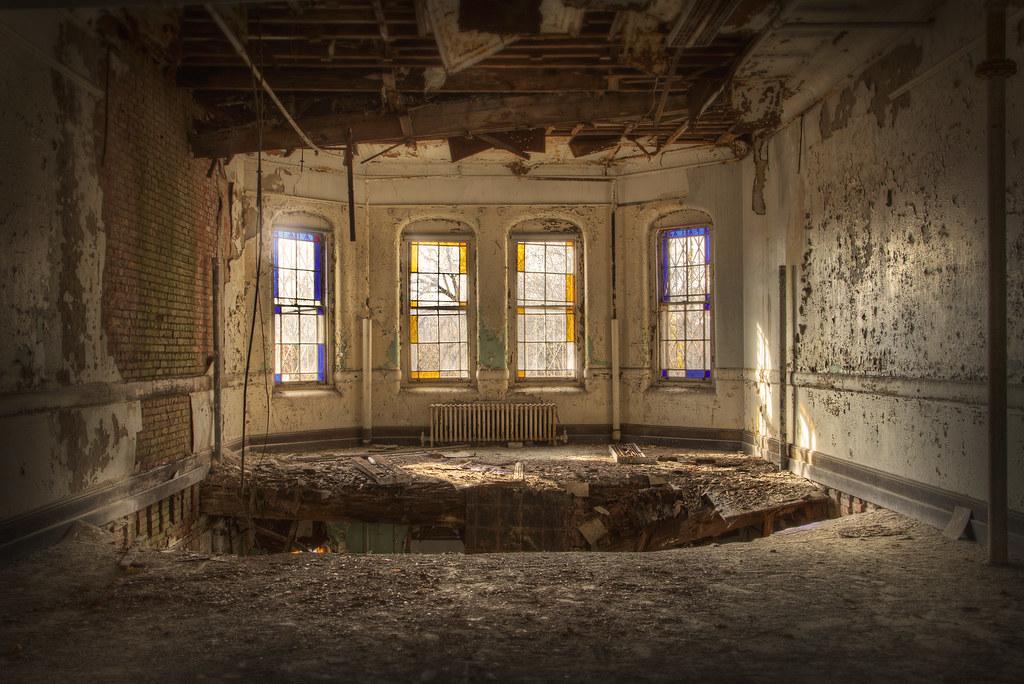 Room At Abandoned Psychiatric Hospital