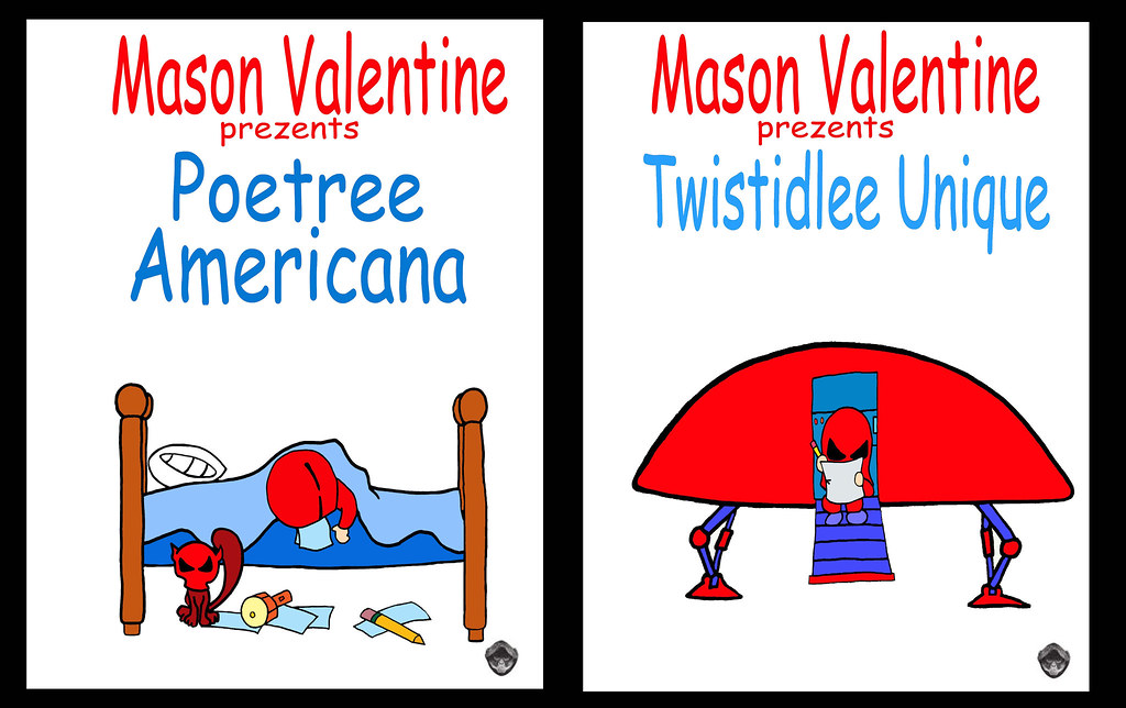 ... Twistedlee Unique Poetry Americana Mason Valentine Cartoon Comic  Character Music Poetry Book Cover Art Illustration Music