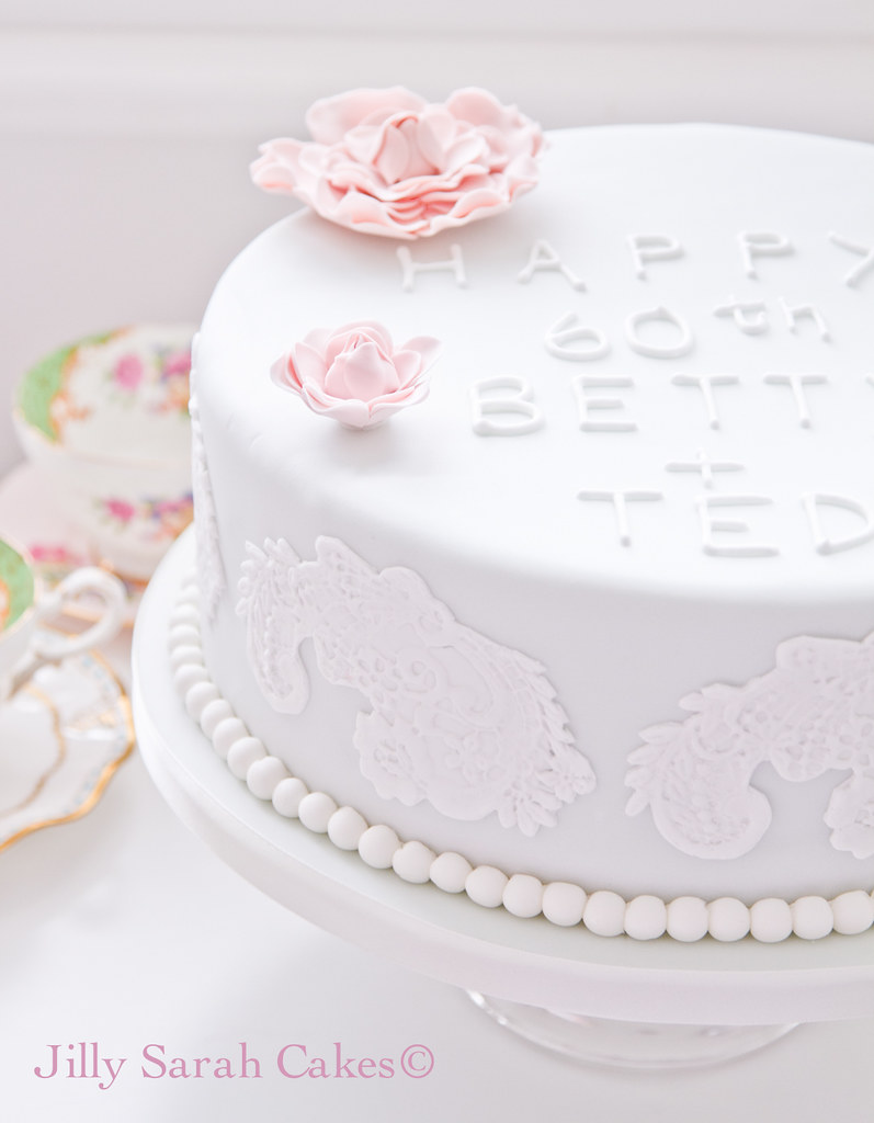 60th Wedding Anniversary Cake | I loved making this cake and… | Flickr