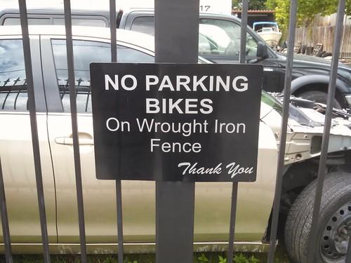 No Parking Bikes