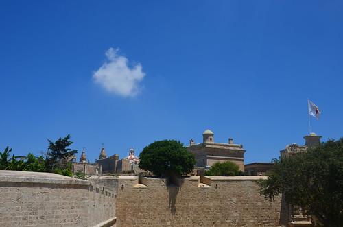 Rückblick auf die Zitadelle von Mdina