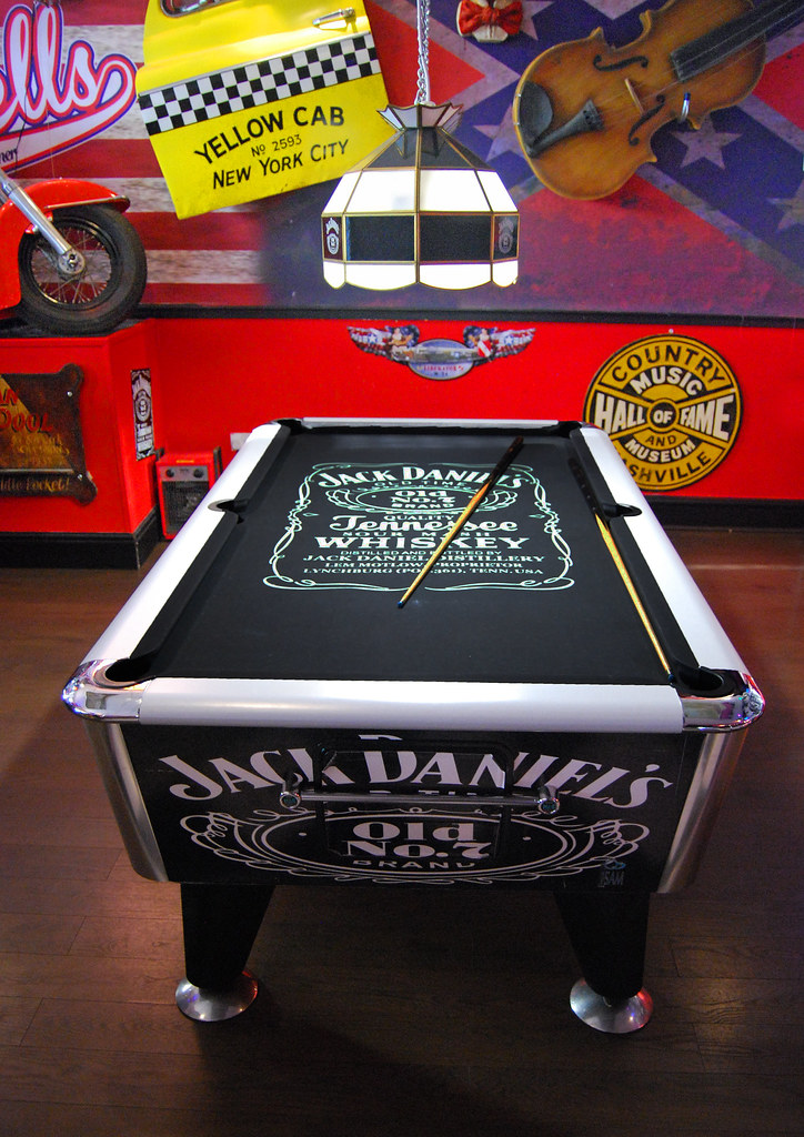 Jack Daniels Pool Table In The American Bar Diner I Thin Flickr - Jack daniels pool table