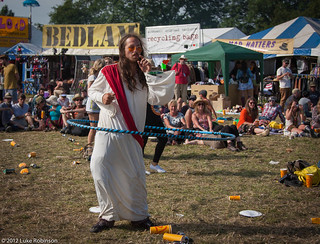 Hula Hoop Jesus (AKA Pirate Dan, AKA the Charity Bin Painter), West Holts | by Luke Robinson