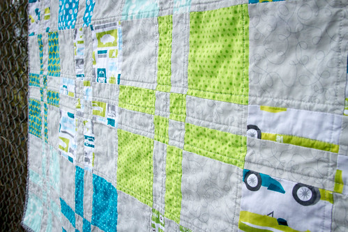 a sliced four patch quilt | by makinglifeprettier