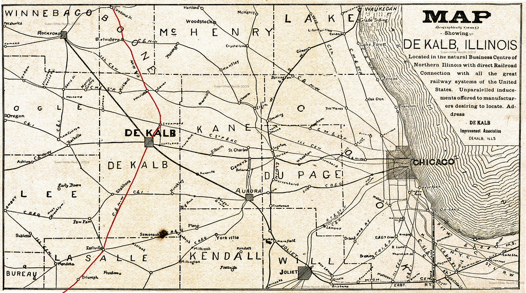 Northern Illinois Railroad Route Map This Particular Map D Flickr - Map of northern illinois
