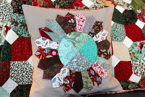 Dresden Plate Christmas Pillow | by CoraQuilts~Carla