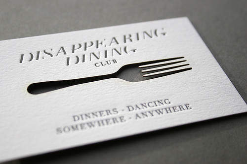 Disappearing Dining Club Business Cards | by blush°°