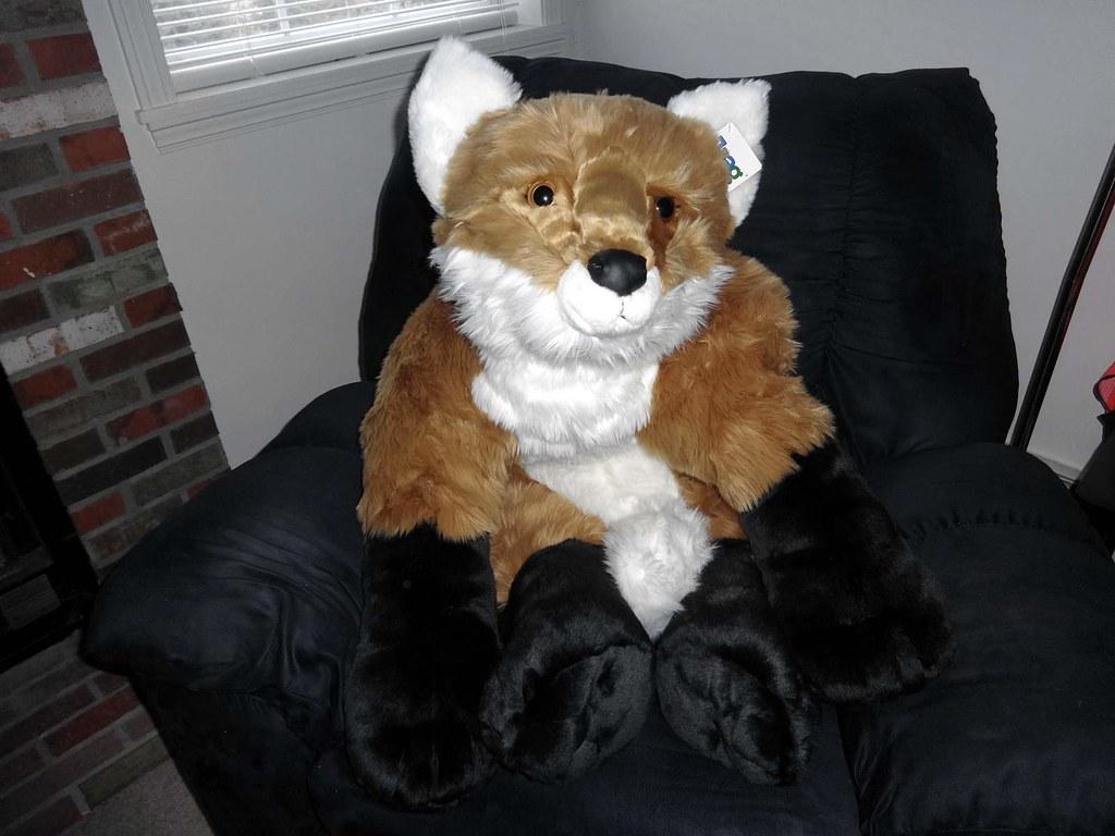 jaag giant red fox 1 jaag s new giant red fox plush he s flickr