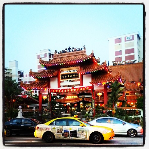Temple are colorful for Chinese new year #Singapore #cny | by Www.GetlostinAsia.com