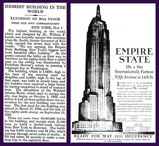 1st May 1931 - Empire State Building Official Opening | by Bradford Timeline