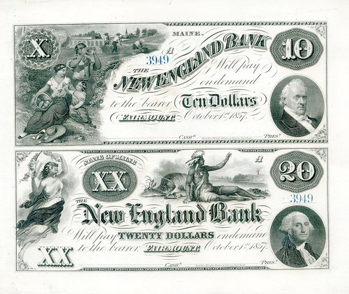 ME, Fairmount-New England B-$010-$20-1857-10-01 sheet qexghl