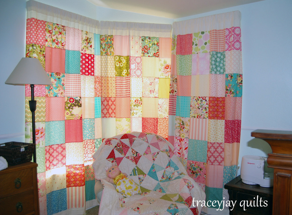 Scarletu0027s Patchwork Curtains | By Traceyjay Scarletu0027s Patchwork Curtains |  By Traceyjay