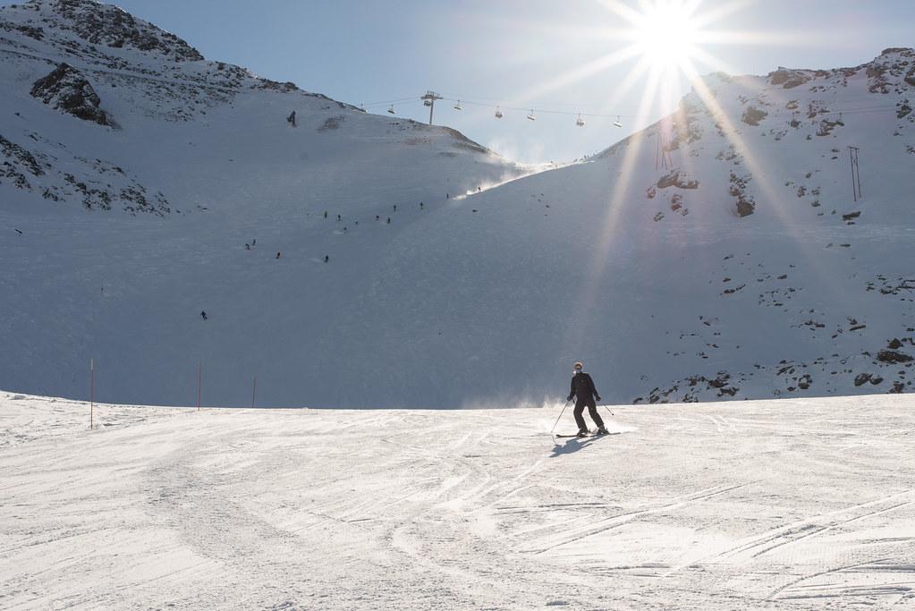 Skifahren in Val Thorens