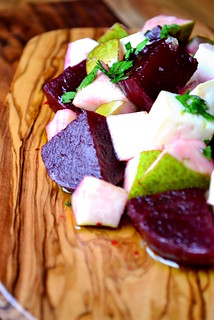 Beetroot, Pear & Goats Cheese Salad Recipe | by FrugalFeeding