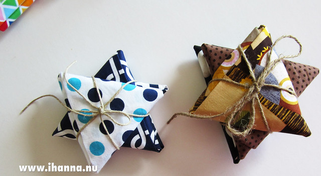 Fabric folded and sold in star shape photo by @ihanna #fabricstars