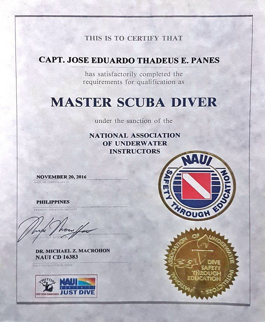 Naui Master Diver Course Complete Thank You Doc Michael Flickr