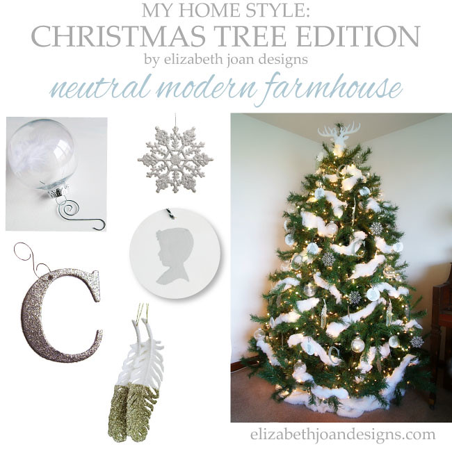 My Home Style Christmas Tree Neutral Modern Farmhouse Tree