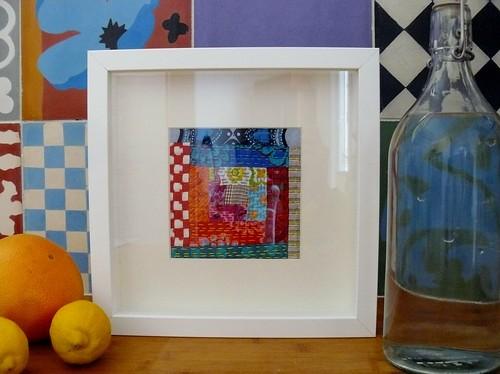 Tableau abstrait color un log cabin sous verre rien de t flickr - Cadre sous verre ikea ...