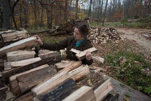 Tara Stacking Wood | by goingslowly