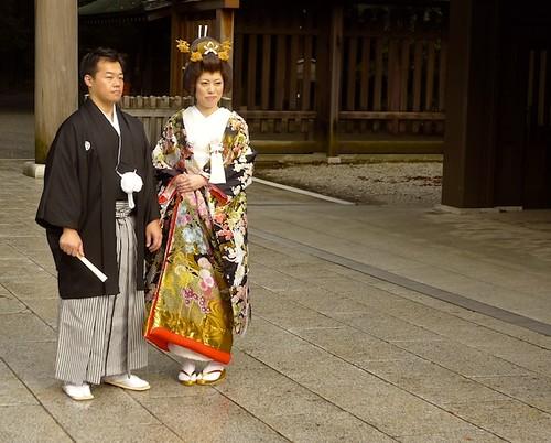 Japanese Couple Traditional Wedding Kimono