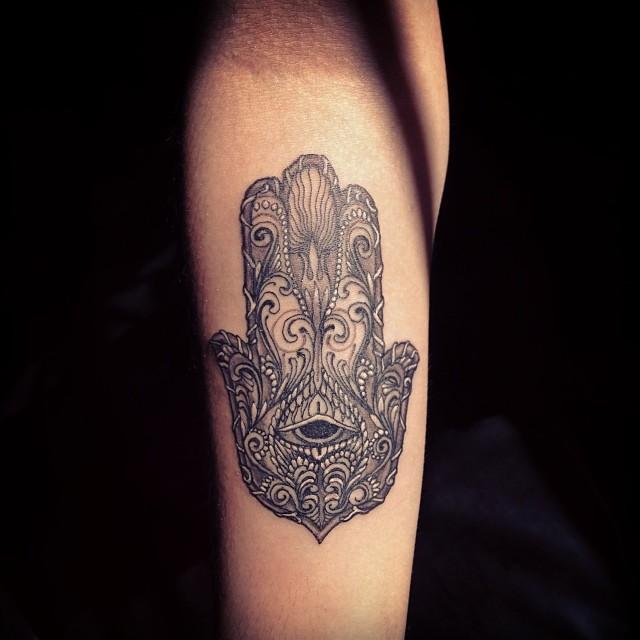 Mano De Fátima Tattoo Tatuaje Fatimahand Cesars Art Flickr