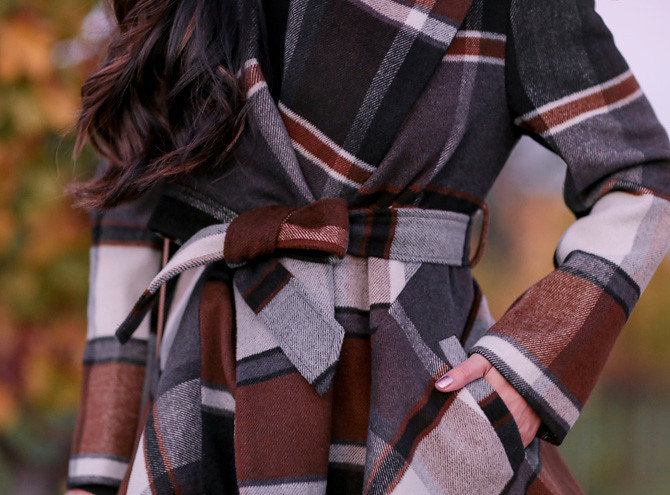 chicwish prairie check rabato coat review xxs