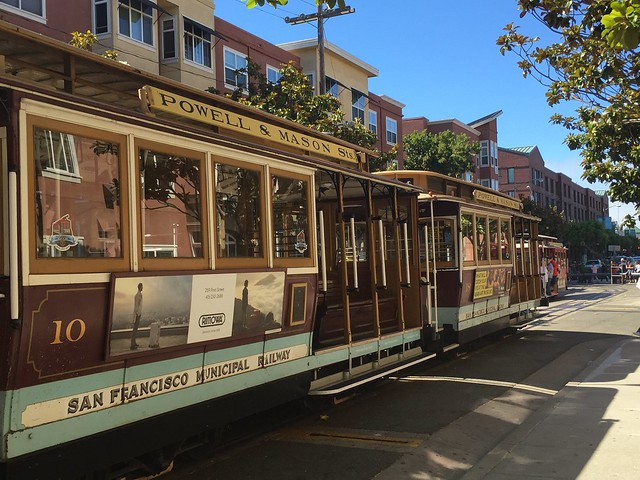 Powell and Mason cable car ready for departure San Francisco