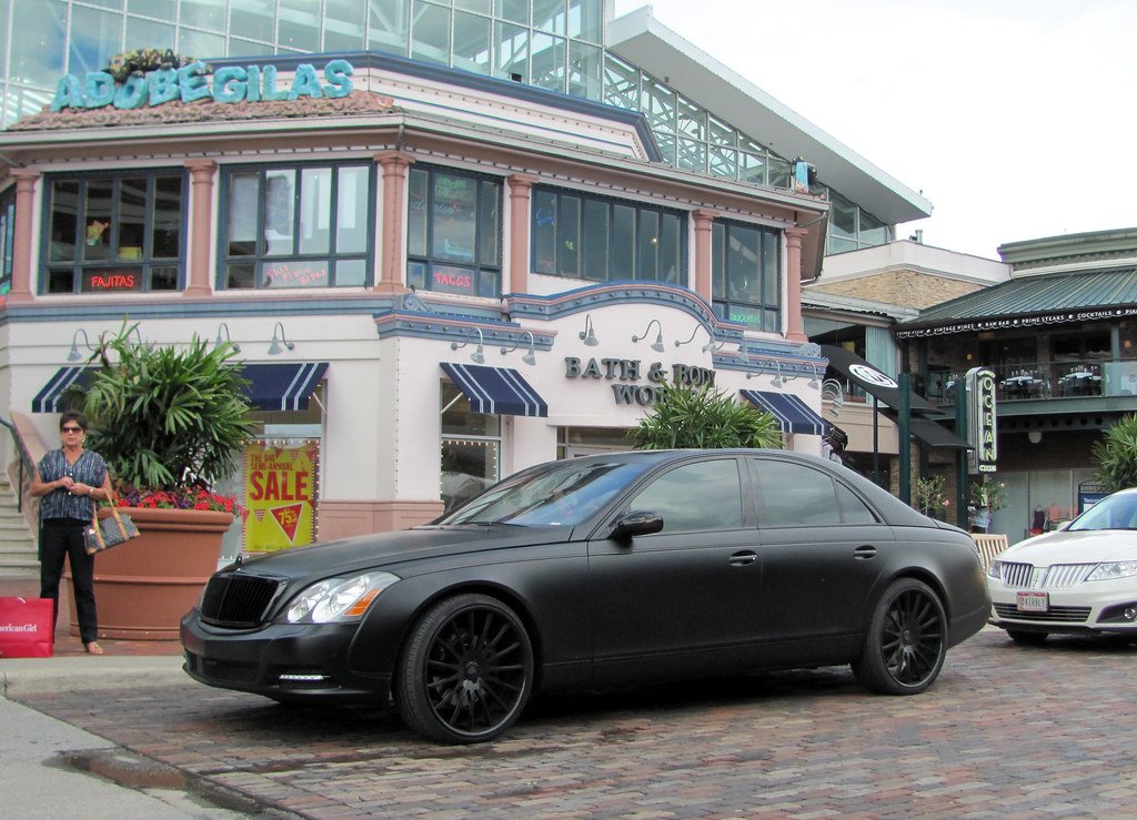 Flat Black. | Maybach 57 - Easton Town Center, Columbus, Ohi… | TYI ...