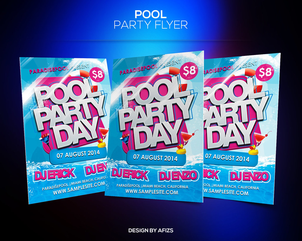 Pool Party Day Flyer Template | Download PSD file here: grap… | Flickr