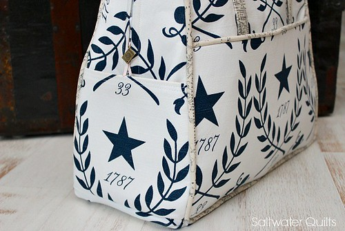 Star Amy Butler Weekender Bag | by Saltwater Quilts