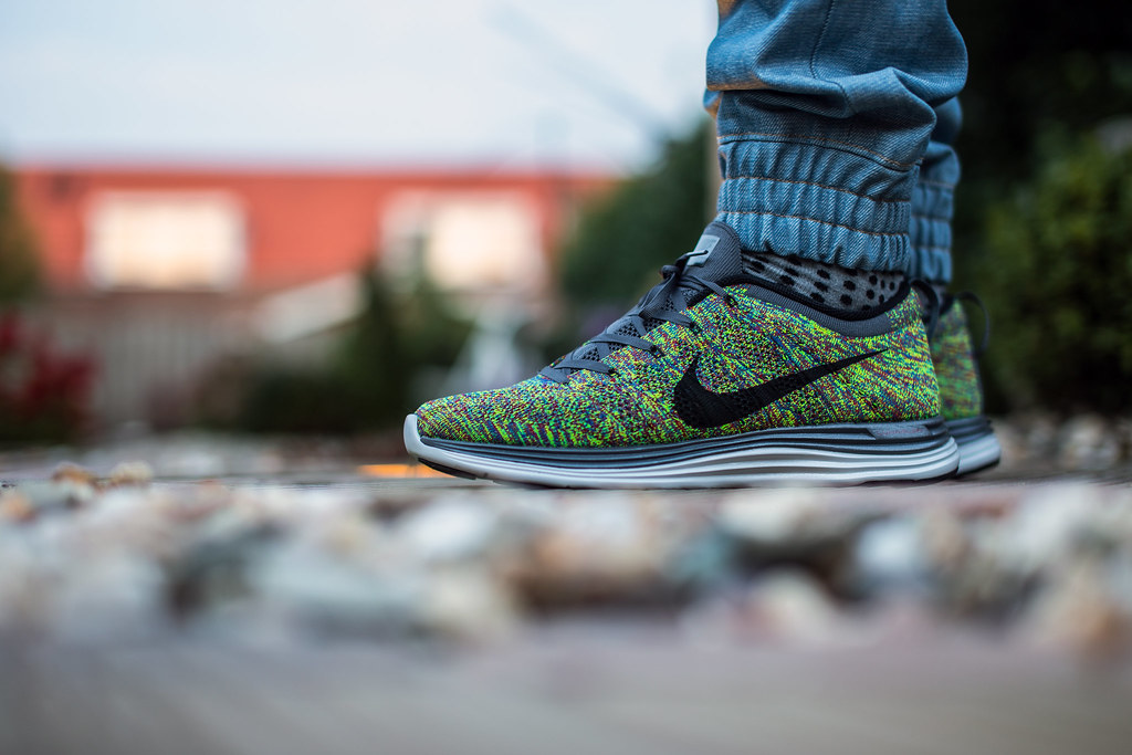 excellent quality new products factory price nike flyknit lunar 1 multicolor on feet