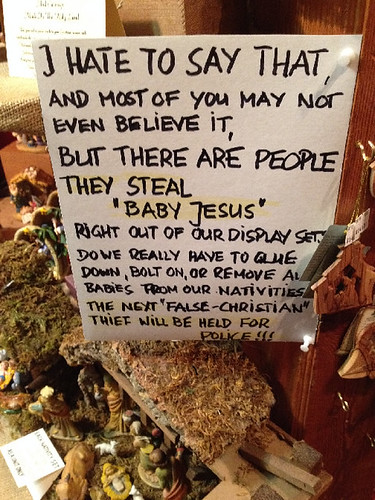 Is it really Baby Jesus stealing season again already? | by passiveaggressivenotes