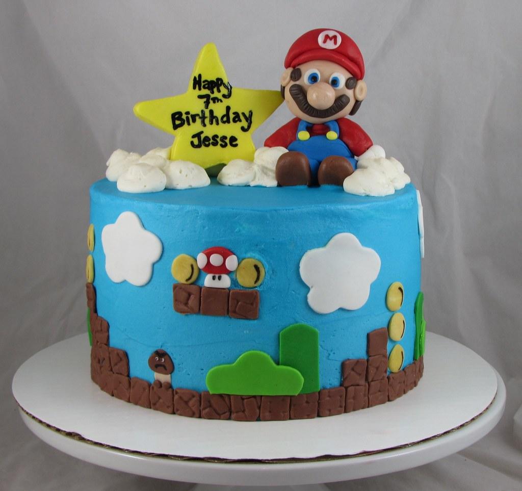 Mario Bros Cake Sugarushbakery Flickr