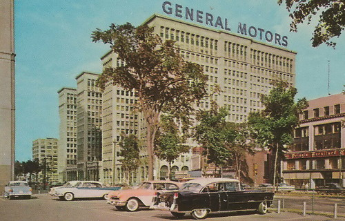 Se detroit mi 1950s architect albert kahn created the 1923 for General motors corporate office