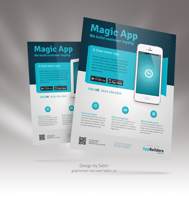 mobile app flyer template 03 mobile app flyer template is flickr
