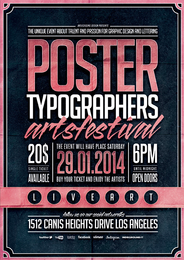 Typography Poster Template Vol. 2 | Download Link: bit.ly/ty… | Flickr