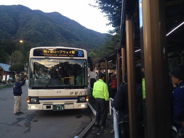 木曽駒ヶ岳 菅の台バスセンター 駒ヶ岳ロープウェイ駅行 バス